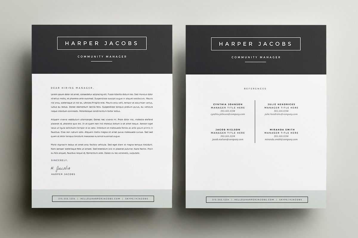Resume Template 4 Pack Cv Template By Refinery Resume Co On