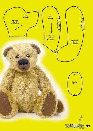 Мишки Тедди выкройки мастер-классы   teddy   Pinterest   Bären ...