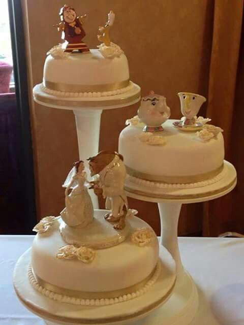Beauty and the Beast wedding cake Decorated cakes Pinterest