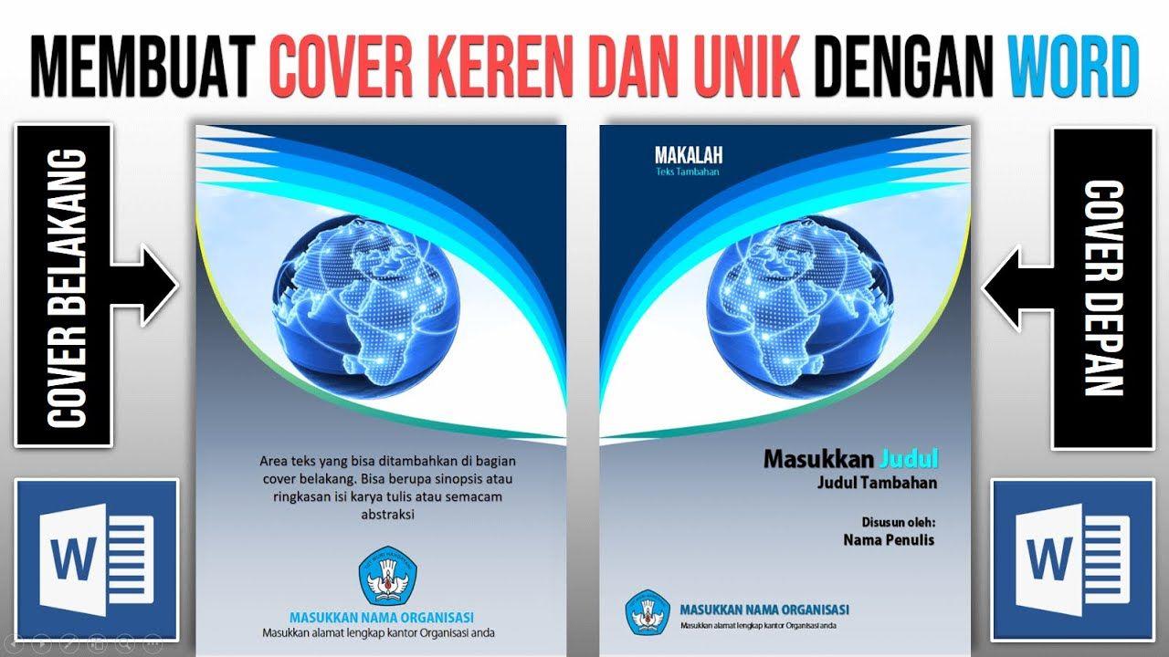 Cara Membuat Cover Dengan Word Cover Makalah Cover Laporan Cover Buku Teknik Komputer Buku Tulisan