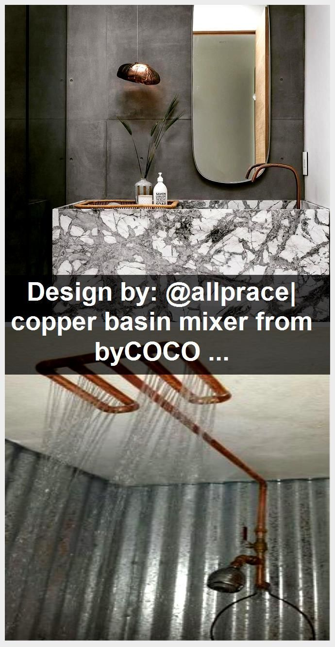 Photo of Design by: @allprace| copper basin mixer from byCOCOON.com | copper faucet | des…,  #allpra…