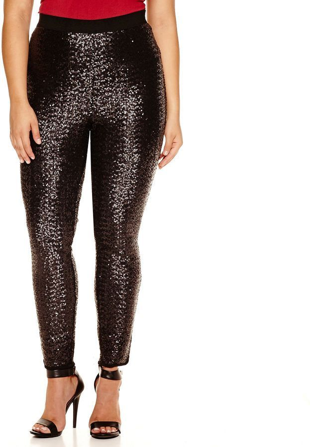 75becdb6c0df5 JCPenney - Bisou Bisou Sequin Pull-On Leggings - Plus.    Have a look at  even more by checking out the picture