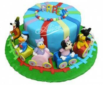 Mickey Mouse Club House Torte für mein junge. Das war Super Leckerrrrrr!!!