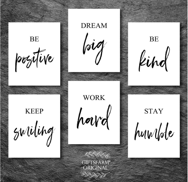 Inspirational Wall Art Motivational Wall Art Quotes Wall Wall Art For Living Room Bedroom Office Motivational Wall Art Wall Decor Quotes Wall Art Quotes