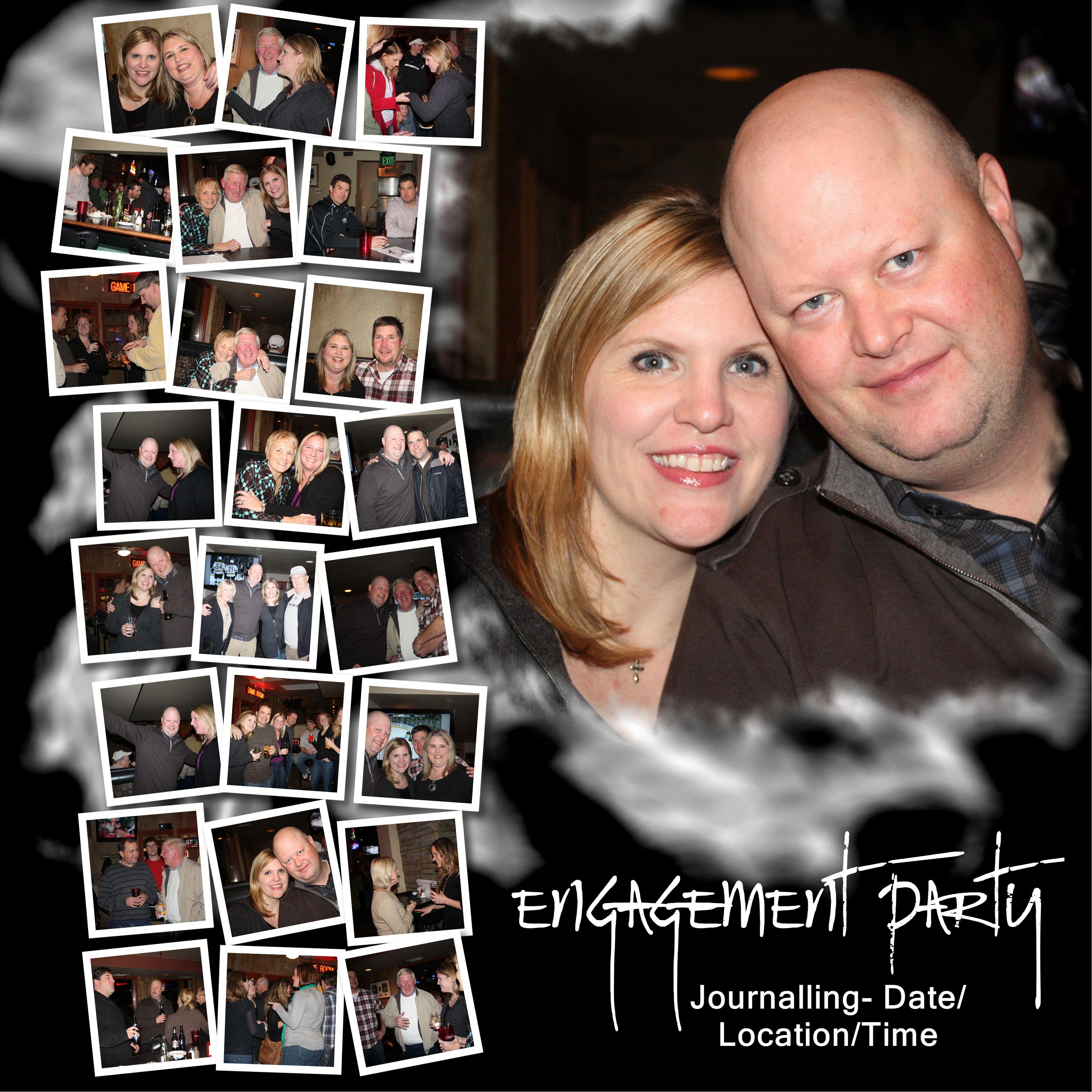 Scrapbook ideas engagement - Layout Engagement Party