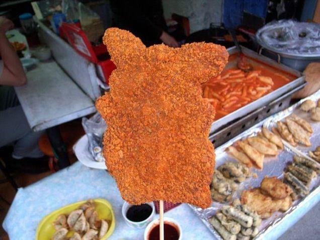 fried pork shaped cutlet Pikachu Bulgogi