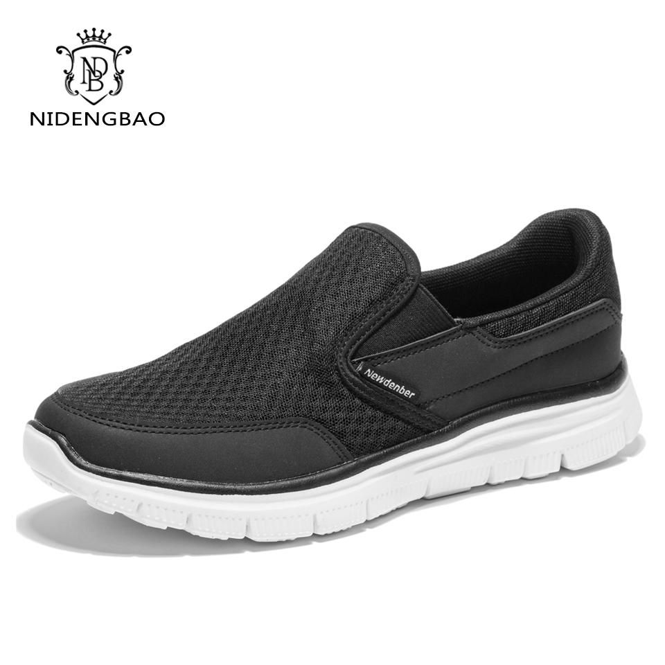 63cd9bcb5bea Summer Mesh Shoes Men Casual Shoes Black Colors Slip-On Breathable ...