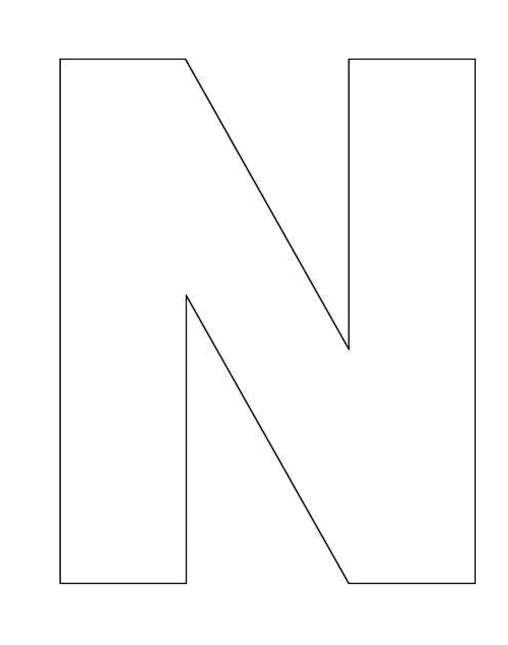 photograph relating to Letter N Printable called Printable Alphabet Letter N Template! Alphabet Letter N