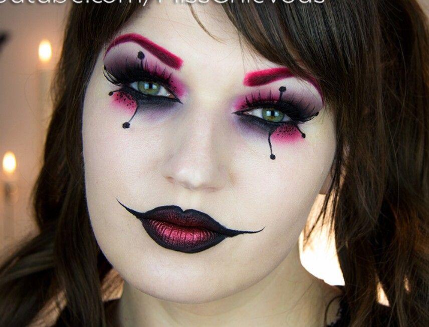 Harley quinn makeup Halloween Pinterest - clown ideas for halloween