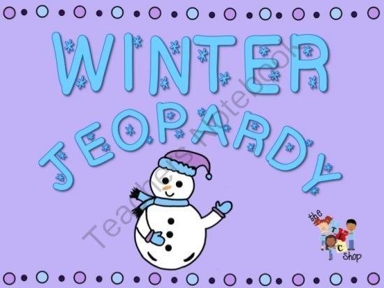 Winter Jeopardy From The TLC Shop On TeachersnotebookCom