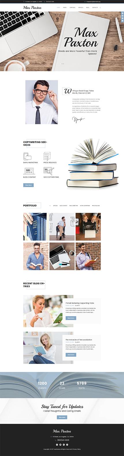 Maxpaxton Freelance Copywriter And Journalist Wordpress Theme Freelance Writing Jobs Writing Jobs Freelance Writing