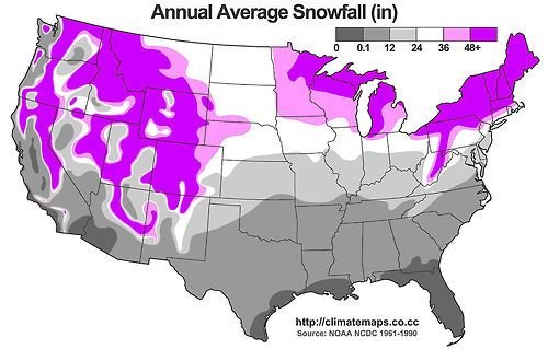 Usa Snow Map