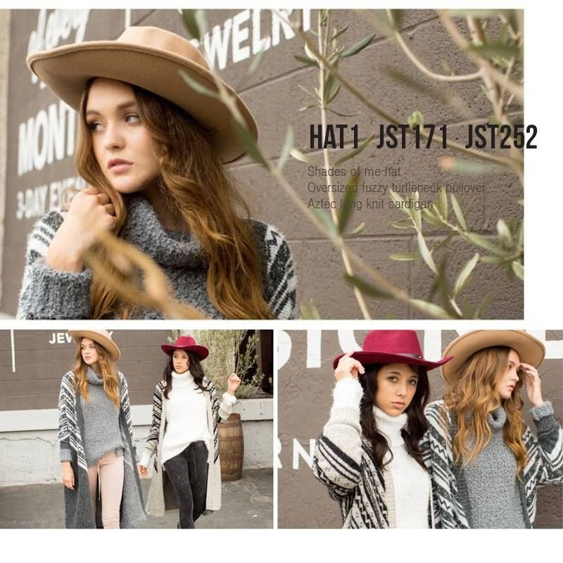 Aztec long knit cardigan lengthens the body, feels elegantly flowing as you sashay down the street and hides a multitude of figure flaws. You can pair this cardigan with oversized fuzzy turtle neck pullover and shades of me hat for a more sophisticated look.