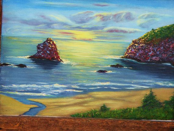 Pacific an original oil painting over the by papajonsflyinns, $249.00