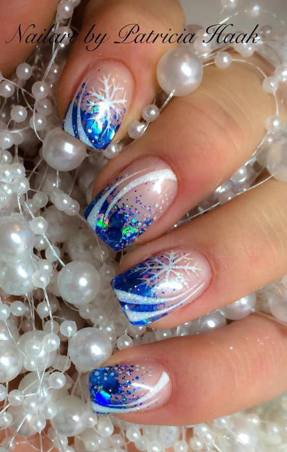 35 Beautiful Winter Nail Designs Shrinking the Sea