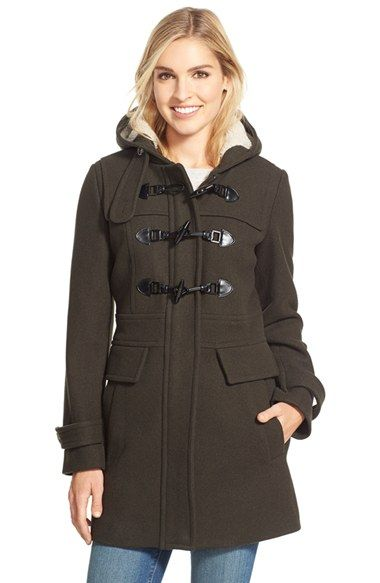 Ladies Hooded Duffle Coat | Down Coat