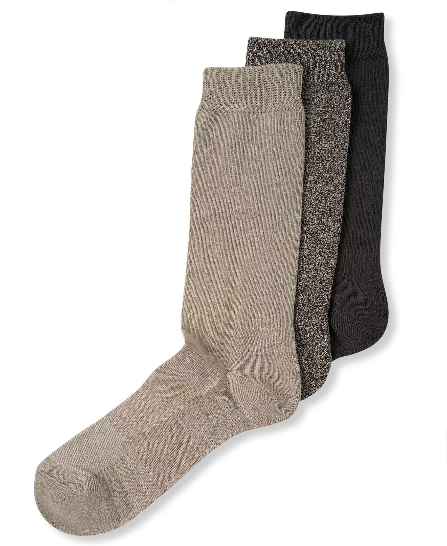 Perry Ellis Men's Socks, C-Fit Comfort Massage Dress Crew 3 Pack