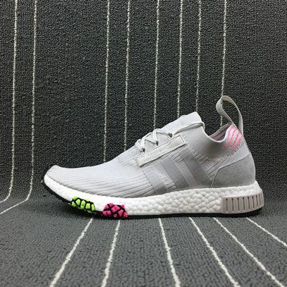 55a749888d9f Spring Summer 2018 Factory Authentic Unisex Adidas NMD Racer PK Spring Line  UP Grey Pink White CQ2433