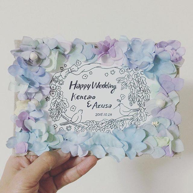 結婚祝いの祝電で布花イラストボードのご注文こちら11月のワーク