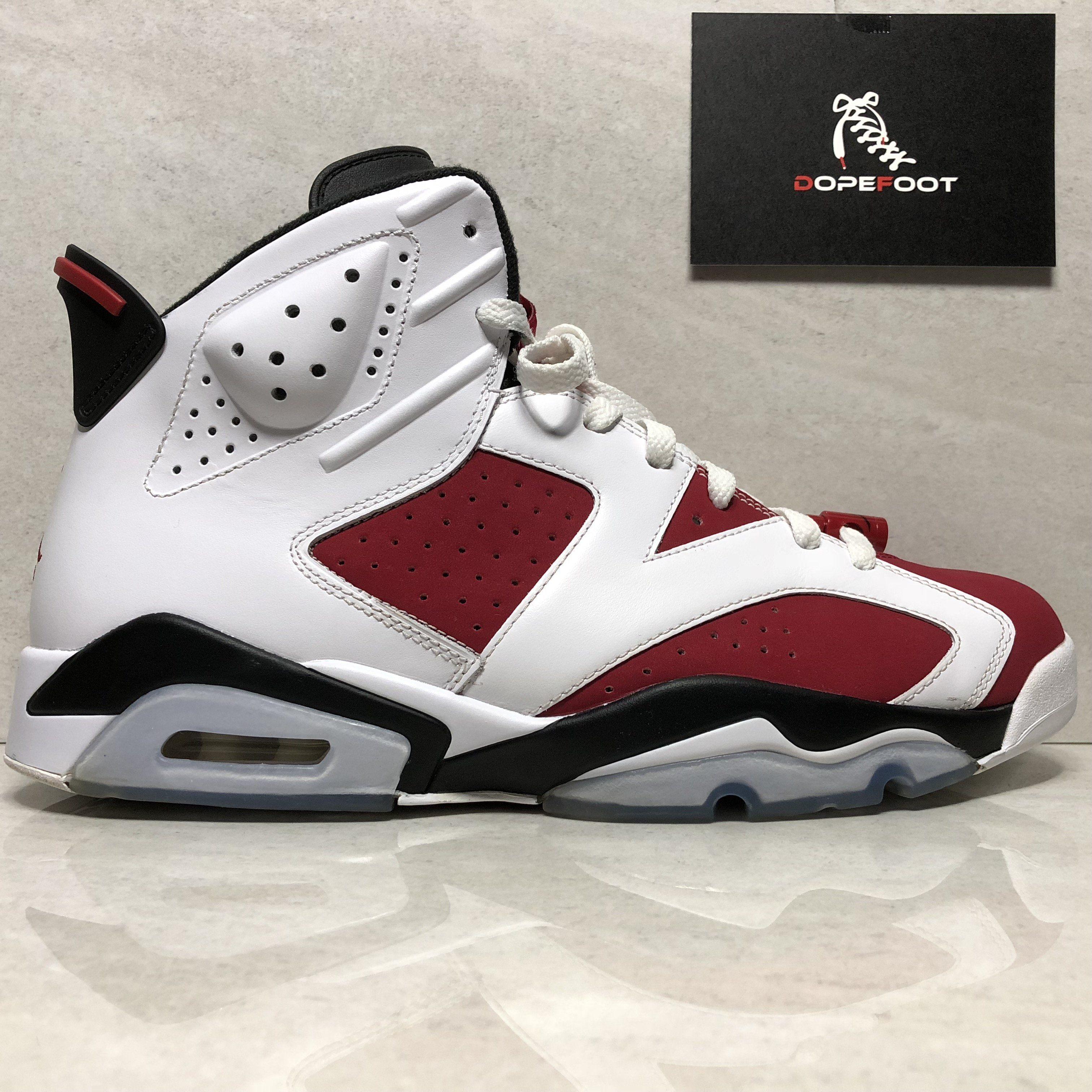 huge selection of bc7fa 355a2 Nike Air Jordan 6 VI Retro Carmine Size 12 WHITE/CARMINE ...