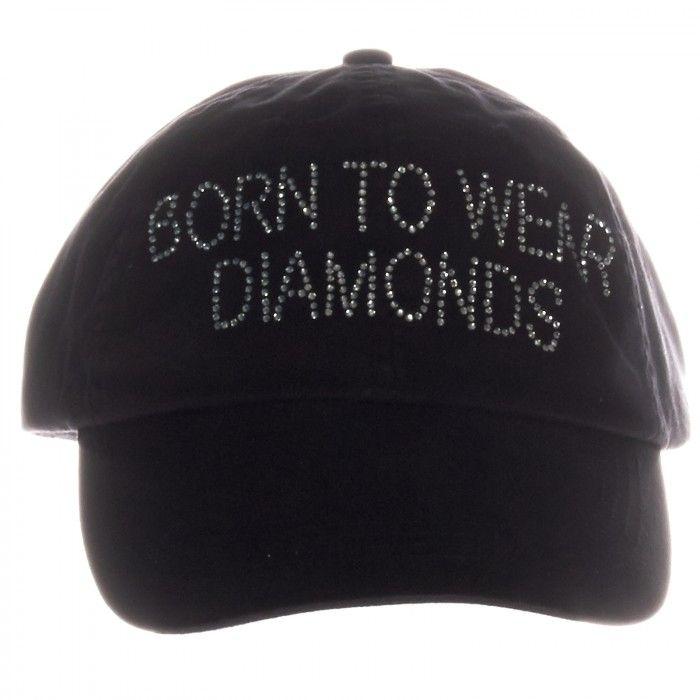 Black Crystal Adjustable Baseball Cap Hat  ee57f09c908d