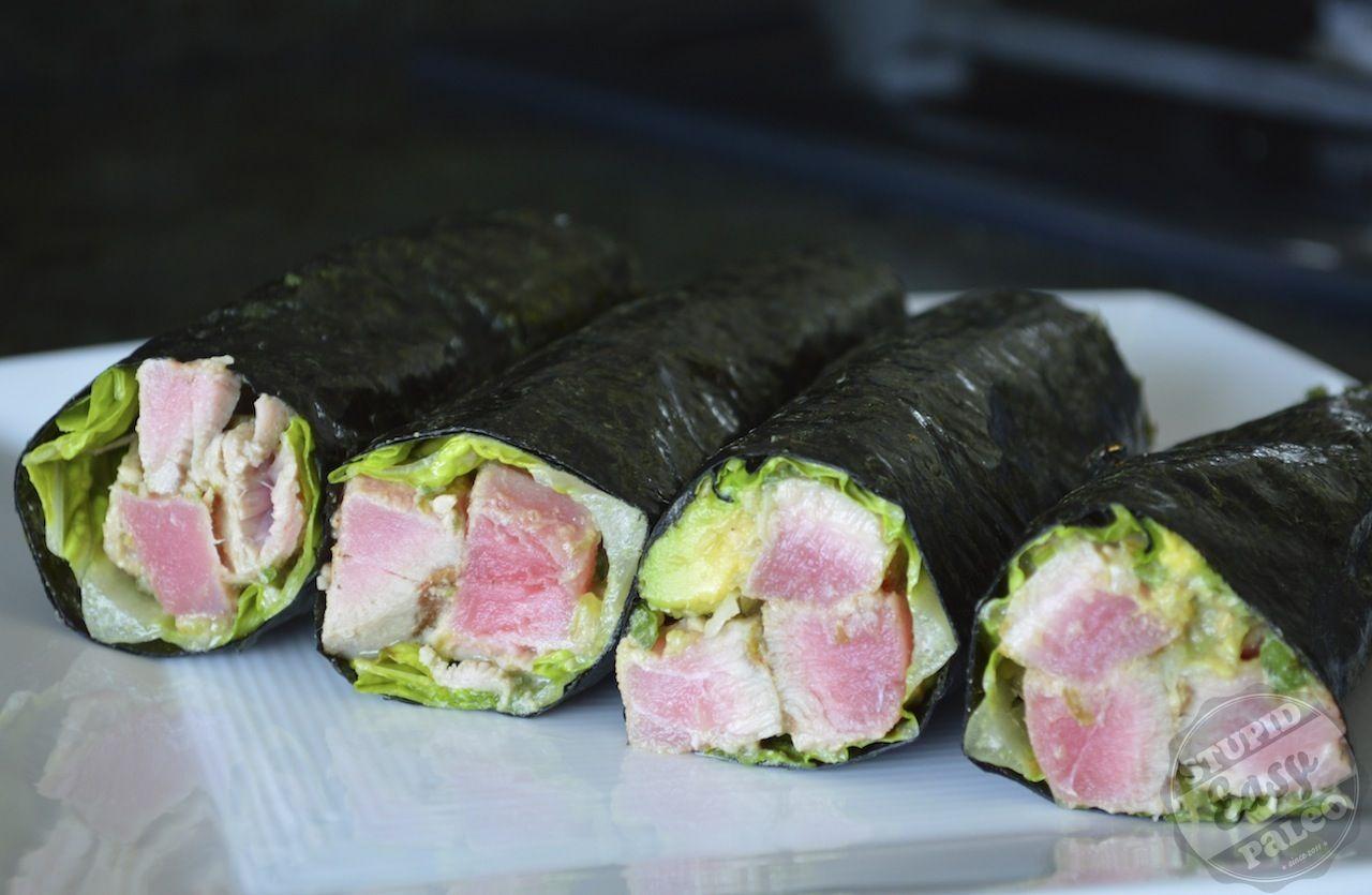Ahi Tuna Salad #StupidEasyPaleo