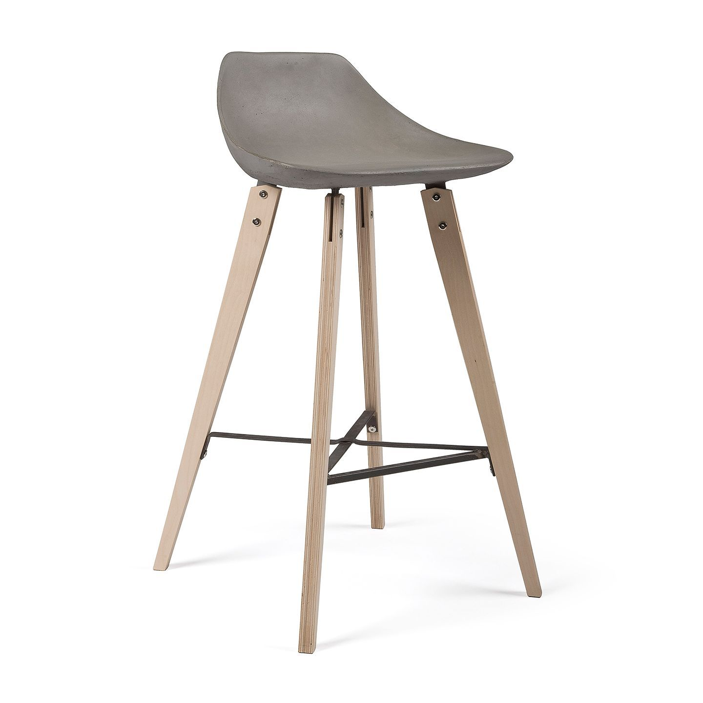 Hauteville Counter Chair With Plywood Feet By Lyon Beton