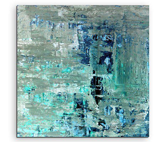 Fotokunst quadratisch 60x60cm Bild \u2013 Abstrakte Strukturen in Olive - wohnzimmer bilder abstrakt