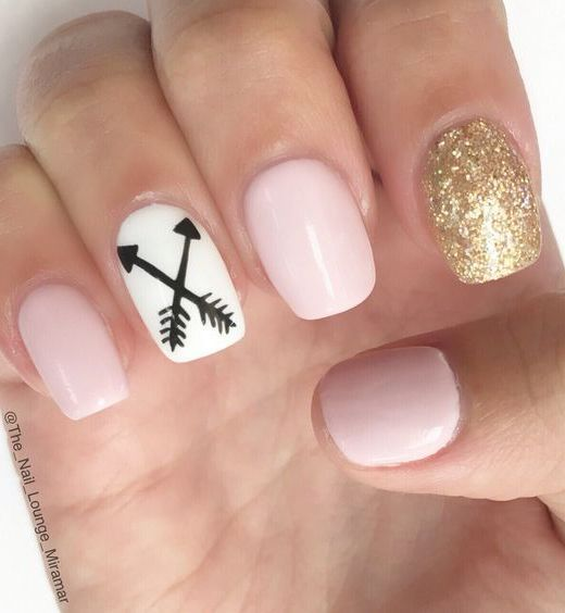 12 Amazing Nail Designs For Short Nails 4 Nude White And Gold