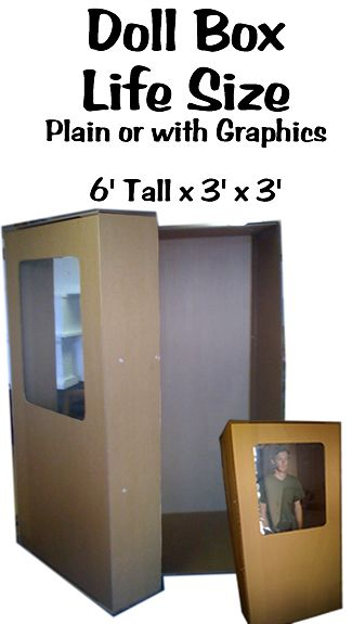 eed1aed9d75 Life Size Barbie Doll Box Cardboard Prop