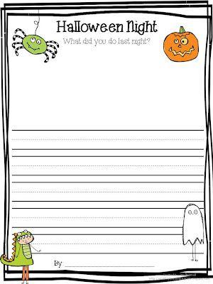 Halloween Writing Template Blog Love Pinterest Template - writing template