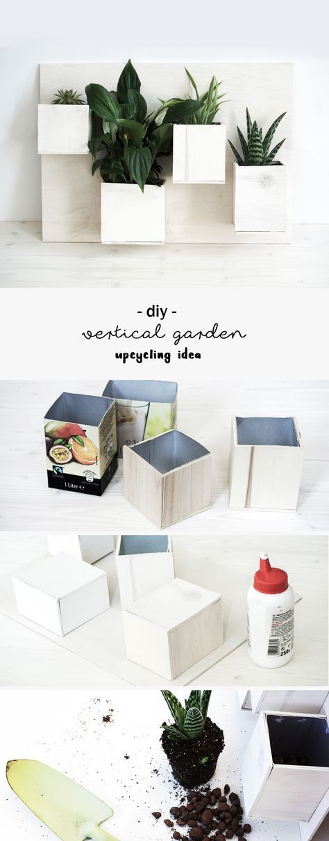 diy pflanzen bild aus getr nkekartons pinterest deko wand recycling ideen und vertikaler garten. Black Bedroom Furniture Sets. Home Design Ideas