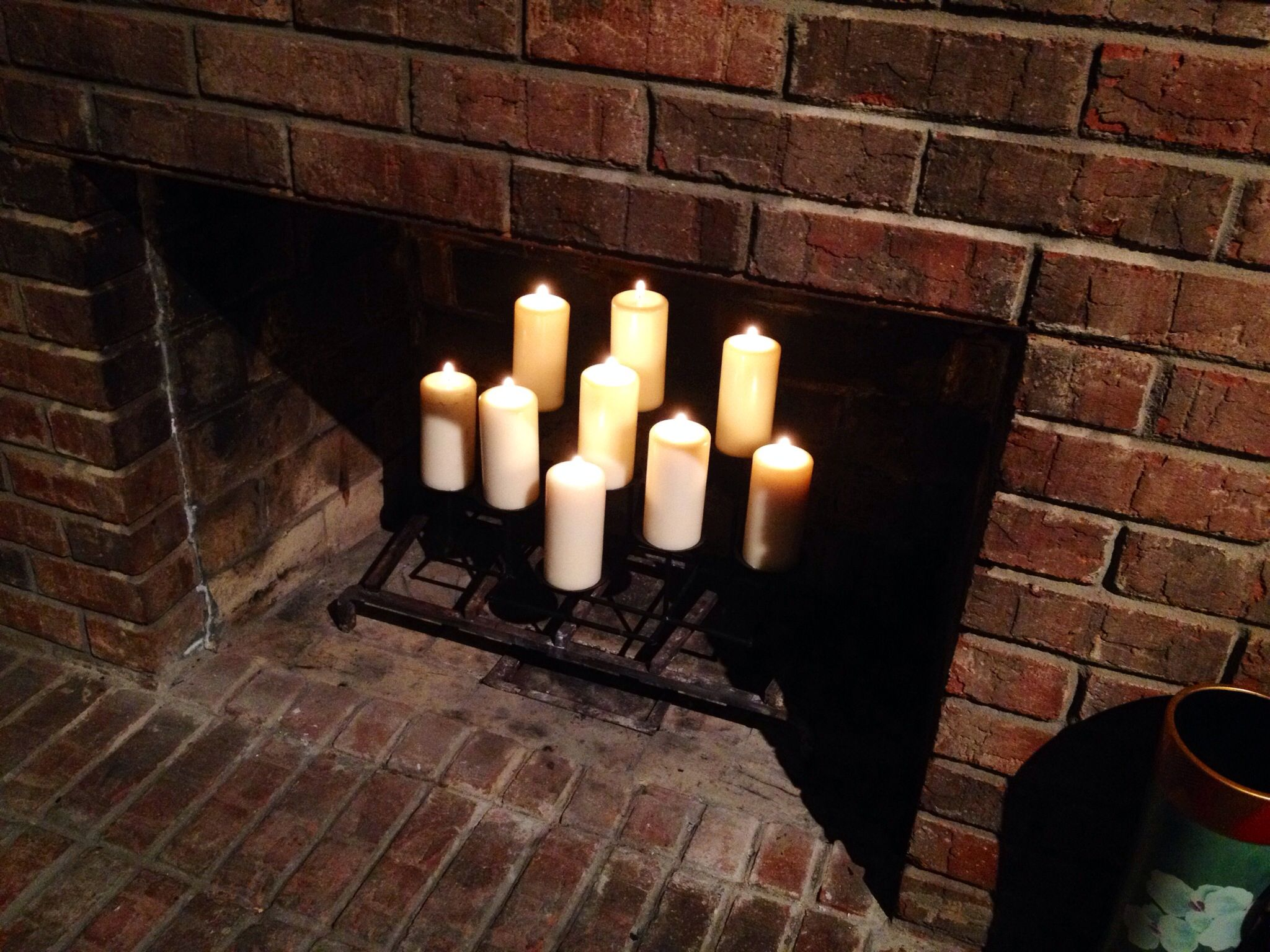 Candles In Fireplace Fireplace In Living Room Pinterest