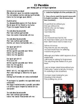 El perdon Spanish song lyrics English translation