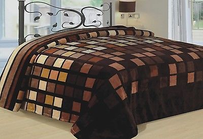 Modern Blanket Super Soft Bedding Brown Beige Blocks King Size Fleece Square NR  https://t.co/09XymV8vXj https://t.co/oN5gh0MYXK