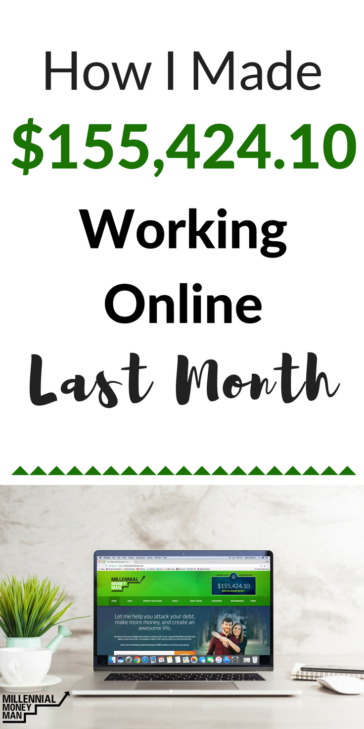 January 2018 Online Income Report: $155,424.10 | Pinterest | Extra ...