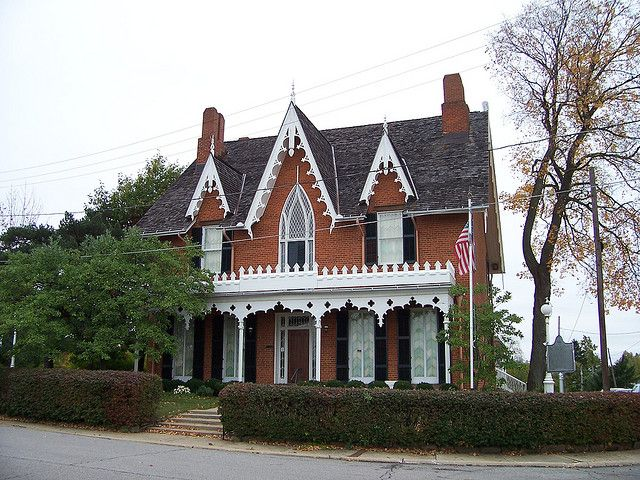 Oh Mansfield Gothic Cottage Architecture House Cottage Victorian Homes