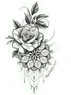 Rose Daisy Flower Clock Tattoo Design @laurenceveillx flowertattoos