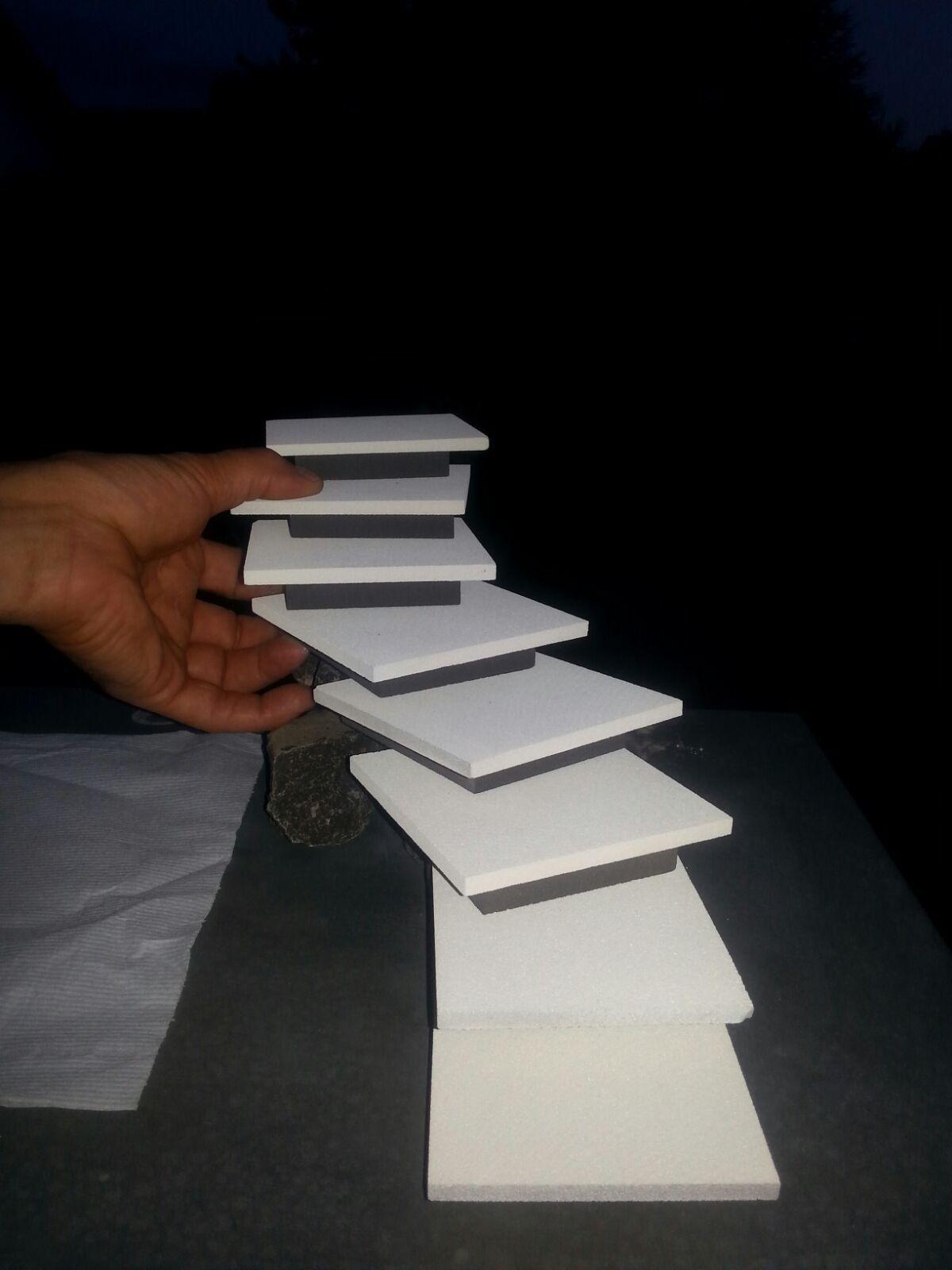Modell der Aussentreppe | Moderne Aussentreppe mit Beleuchtung DIY ...