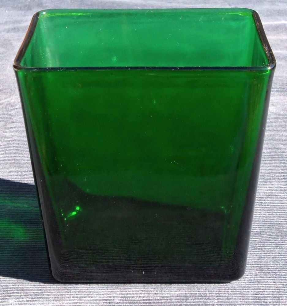 Vintage mid century emerald forest green glass napco vase vintage mid century emerald forest green glass napco vase rectangular 1166 usa reviewsmspy