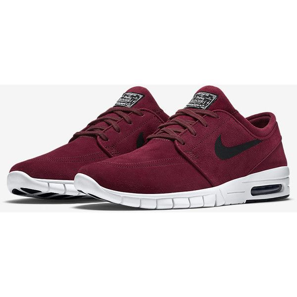 Nike SB Stefan Janoski Max Suede Unisex Skateboarding Shoe (Men's... ($135) ❤ liked on Polyvore featuring men's fashion, men's shoes, nike mens shoes, mens shoes and mens suede shoes