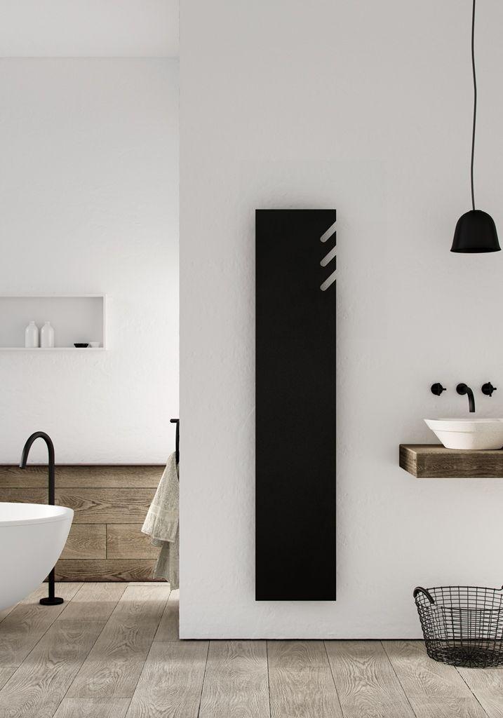 Designradiator volata met uitsparing voor een speelse look en functioneel het ophangen van handdoeken of also design radiatoren badkamer radiator rh nl pinterest