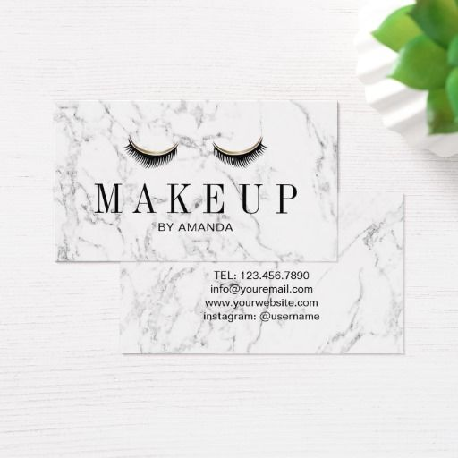 Makeup Artist Elegant Marble Beauty Salon Business Card Zazzle Com Salon Business Cards Beauty Salon Business Cards Salon Business