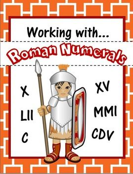 Roman Numerals Unit: Poster, Flash Cards and Worksheets ...