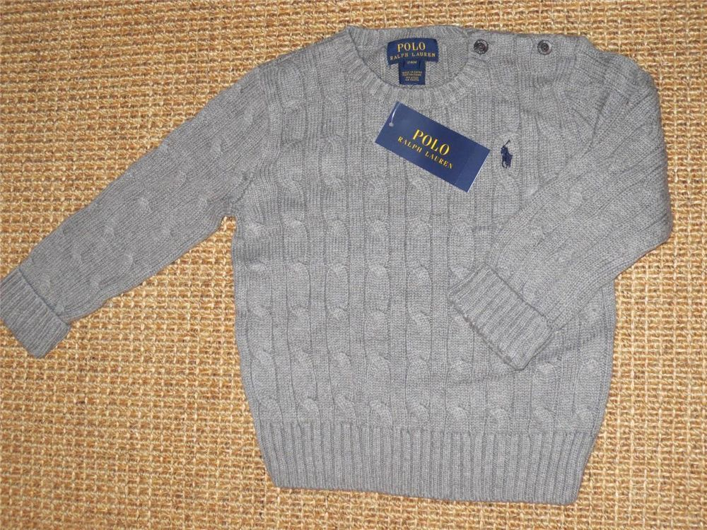 POLO  RALPH  LAUREN  BABY BOY  24  MONTHS  SWEATER   NEW  NWT  JUMPER #PoloRalphLauren #Pullover