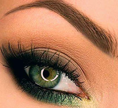 Inspirations-Make-up: 25 Möglichkeiten, grün auf den Augen zu tragen!