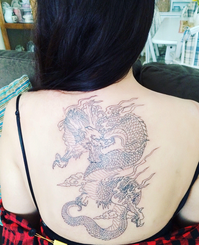Woman Dragon Back Tattoo Dragon Tattoo For Women Back Tattoo Dragon Tattoo Designs
