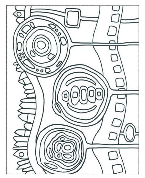Hundertwasser Malvorlagen | schule | Pinterest
