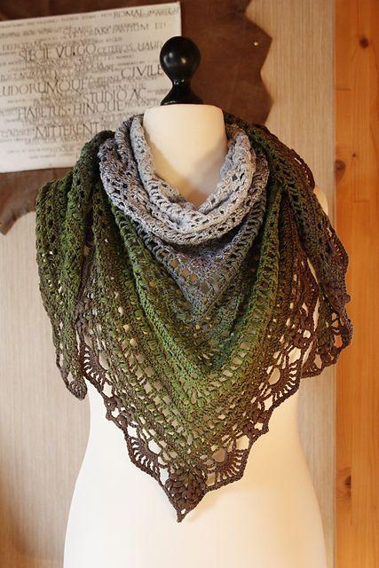 Schal Quiraing pattern by Silvia Bangert | Pinterest | Schals, Schal ...