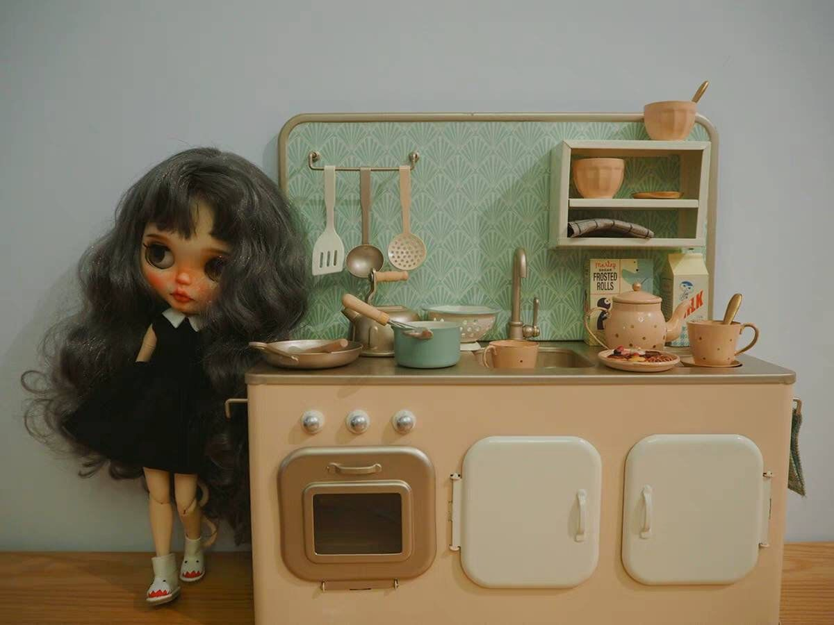 Miniatures Kitchen for Blythe #miniaturekitchen
